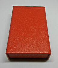 Fujima Tin Red Metallic Design King Size Cigarette CasePack Box