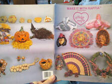Make It With Raffia Craft Book -Pamela Woods-Fan/Hat/Baskets/Witch/Swans/Wreaths