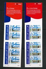 Netherlands 2002  cyclists & coast scene  DIE-CUT booklet panes  MNH  N397
