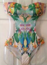 Ladies Cutaway Bandeau Swimming Costume -Size 8 - H&M Pastel Floral
