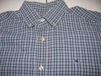 Vineyard Vines Men's Size SMALL Plaid Collegiate WHALE Dress Shirt