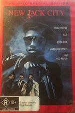 New Jack City 2-Disc Set Wesley Snipes Ice T Chris Rock Region 4 DVD VGC