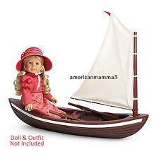 "American Girl CAROLINE SKIFF for 18"" Doll Wood Boat Ship Sailing Sail NEW"