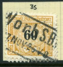 SWITZERLAND;  1913-30s early RAILWAY PARCEL stamp fine used  60c. Type  35