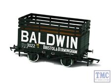 OR76CK7006 Oxford Rail OO PO 7 Plank Mineral Wagon Coke Baldwin no.3022 Black