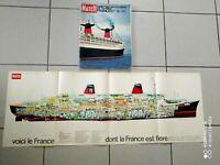 """PARIS MATCH NR.663 SPECIAL PAQUEBOT """"FRANCE"""" AVEC PLAN DE COUPE"""