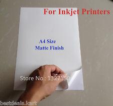 **MATTE** 10 PCS A4 Size SELF ADHESIVE / STICKER / GUMMING PAPER / LABELS SHEETS