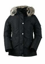 NEW Obermeyer Payge Black Womens 6  Insulated Ski Winter Jacket Faux Fur Ret$270