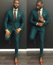 Men Green Wedding Suit Slim Fit Groom Tuxedos Suit Man Groomsmen Custom Made
