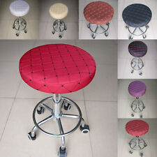 "Grid Pattern Bar Stool Cover - 11"" Round - Comfortable Chair Seat Cover"