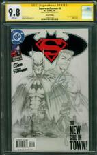 Superman Batman 8 CGC SS 9.8 Henry Cavill Signed Michael Turner sketch Variant
