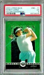2003 Upper Deck Golf Nancy Lopez Major Champions PSA 5