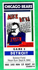 9/6/92 BEARS/LIONS NFL FOOTBALL TICKET STUB