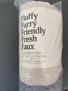 "UnHide For Love Not Fur Lil' Blanket NIP 50""x 60"" Beige Bear"
