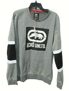 Marc Ecko Unltd E039-L52 Mens Pullover Sweater Gray Marled Long Sleeves NWT