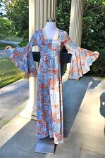 "Vintage 1970's Boho Hippie Flower Child Maxi Dress  30"" waist See Measurements"