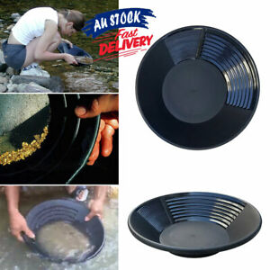 15 inch Gold Pan Estwing Panning 38.5cm Geological Plastic Black Prospecting