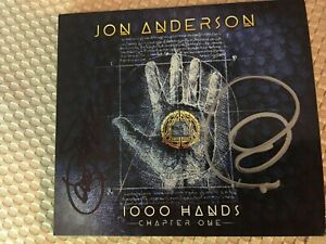 JON ANDERSON 1000 HANDS autographed by STEVE HOWE, CARMINE APPICE, JON ANDERSON