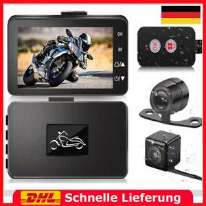Motorcycle/Motor Bike Dash Cam/Camera - 1080P Full HD Dual Lens Video Recorder