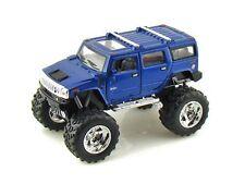 KINSMART 1:40 2008 HUMMER H2 SUV (OFF ROAD / BIG FOOT) Diecast Car Blue Color