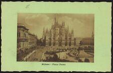 AX0672 Milano - Piazza Duomo - Cartolina postale - Postcard