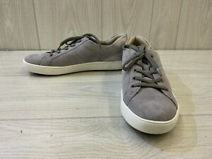 Naturalizer Morrison Comfort Leather Sneaker, Women's Size 9.5M, Grey/Silver NEW