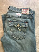 True Religion Ultra Low Rise Medium Blue Men's Jeans Twisted Seam Size 29