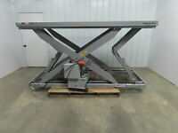 "American Lifts D048080 8,000 Lb. Hydraulic Scissor Lift Table 43.5"" x 113.5"" Top"