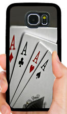 WSOP QUAD ACES POKER PHONE CASE FOR SAMSUNG NOTE & GALAXY S4 S5 S6 S7 S8 S9 +
