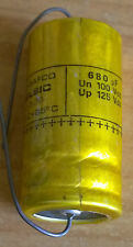 CONDENSATEUR CHIMIQUE AXIAL - 680µF 100V - RELSIC CO26 - SIC SAFCO