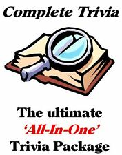 Complete All-In-One Quiz / Trivia Night Package - All on NEW 8gb USB