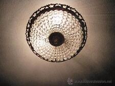 LÁMPARA.  CUENTAS DE CRISTAL Y BRONCE 46 CMS DIÁMETRO LAMPARA CRISTAL LAMPE
