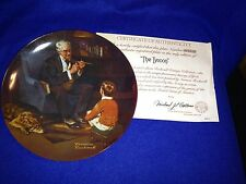 "Norman Rockwell ""The Tycoon"" Plate with C.O.A. and box #2075D Edwin Knowles"