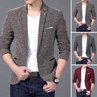2017 Men's Slim Fit Casual Button Suit BUSINESS Jackets Blazers Coat Jackets HOT