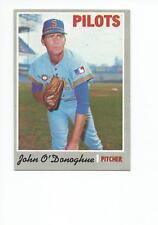 JOHN O'DONOGHUE 1970 Topps Baseball card #441 Seattle Pilots EX/EX+