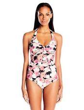 Calvin Klein Swimwear Poppy Bar Halter One Piece Size 8 MSRP$128 SW2 91/8
