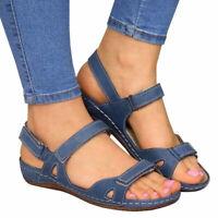 Fashion Women Premium Orthopedic Open Toe Sandals Summer Beach Casual Shoes Size