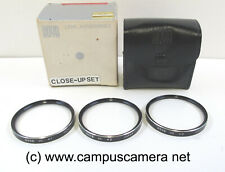 Hoya Series 7 Close Up Filter Set +1, +2 & +3, Series 7 Drop-In Size NIB