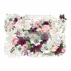 Prima Marketing Redesign NEW VIOLET HILL Floral Furniture Decor Design Transfer