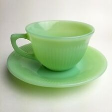 Fire-King Jadeite Jane Ray Vintage Mid-Century Cup and Saucer Set