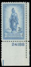 1950 3c STATUE OR FREEDOM PLATE SONGLE MNH GRADED '98' #989 with 2008 PSE cert.
