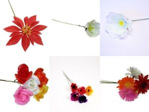 Christmas Artificial Plastic Flowers For Wreath Making Choice Of 10