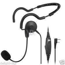 2 PIN PTT MIC Headphone Headset for Baofeng Pofung UV-5R Kenwood Wouxun Radio