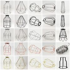 Vintage Industrial Metal Wire Light Shade Cages for Desk Pendant Lamps Lighting