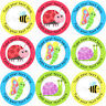 144 Personalised Summer Bugs 30 mm Reward Stickers for School Teachers, Parents