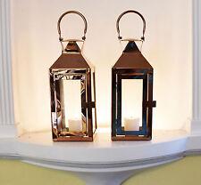 Paire de cuivre Hampton métal et verre bougie photophore lanterne intérieur/extérieur
