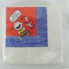 Vintage Ambassador Paper Napkins Snoopy Charlie Brown Hooray For Parties 16 Pack
