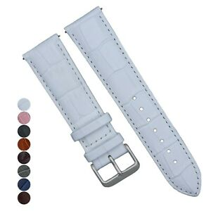 Alligator Grain Genuine Leather Watch Band Quick Release16mm/18mm/20mm/21mm/22mm