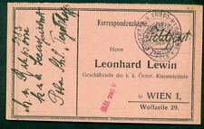1915, Hungary Naval card, ship 'TEGETTHOFF' circular date cancel on front