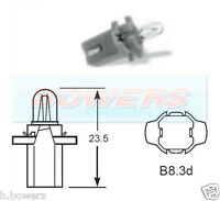 LUCAS LLB286TW 12V 2W B8.3D DASHBOARD WARNING LAMP GAUGE LIGHT BULB WHITE BASE